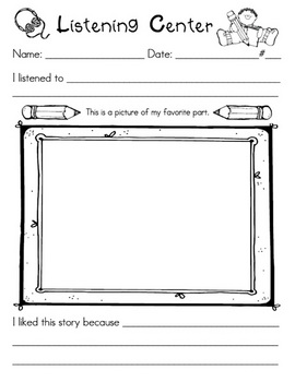 Listening Center worksheet