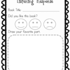 Listening Response Sheet