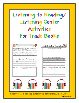 Listening to Reading/Listening Center Activities for 52 Tr