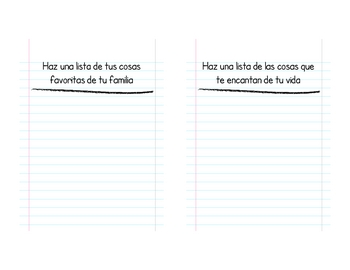 Listography Book (Listografia) for Pre-Writing (Bilingual)