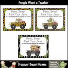 Literacy Center -- Beep, Beep! Park Your Jeep Bundle ( Fir