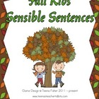 Literacy Center Fall Kids' Sensible Sentences Treasures Re