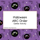 Literacy Center: Halloween ABC Order