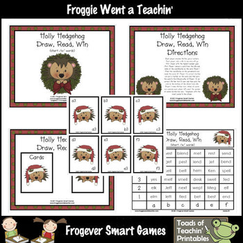 Literacy Center -- Holly Hedgehog (short e words)