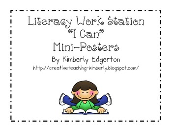 "Literacy Center ""I Can"" mini-posters"