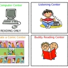Literacy Center ICONS... Computers, Buddy Reading AND More!