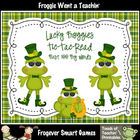 Literacy Center--Lucky Froggies Tic-Tac-Read First 100 Fry Words