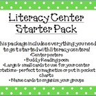Literacy Center Pack- Polka Dots