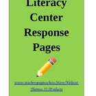 Literacy Center Response Pages