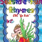 Literacy Center Seaside Fun Rhymes Rhyming Short Vowel CVC words