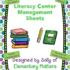 Literacy Center Sheets