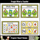 Literacy Center -- Study Time Beginning Consonant Sounds (