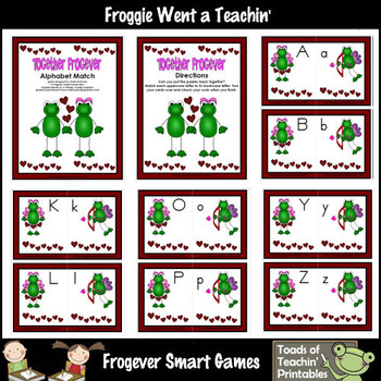 Literacy Center -- Together Frogever (alphabet)