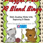 Literacy Center Treasures Reading Pet Tricks R Blends Bingo