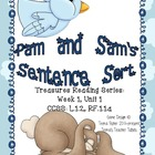 Literacy Center Treasures Reading Series Sentences Pam and Sam