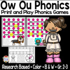 Literacy Centers For Ow and Ou
