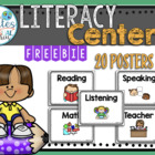 Literacy Centers Posters
