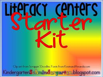 Literacy Centers Starter Kit- Everything you may need!
