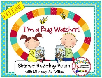 Literacy Fun! I'm A Bug Watcher FREEBIE-Shared Reading S
