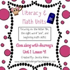 Literacy &amp; Math Unit-M Sound, Beginning Math, Journey&#039;s