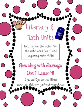 Literacy & Math Unit-M Sound, Beginning Math, Journey's