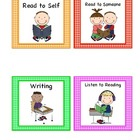 Literacy Pocket Chart or Rotation Cards