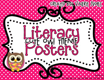 Literacy Posters: Cute Owl Theme