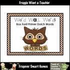 Literacy Resource -- Box Font Primer Dolch Word Wall Words