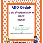 Literacy Station -ABC Order (Superhero theme)