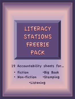 Literacy Station / Center Freebies Pack- 19 stations sheet