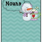 Literacy Station- Noun and Verb Sort (Winter Theme)