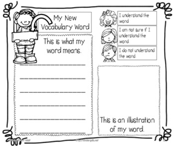 Literacy Vocabulary Packet and Word Wall