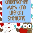 Literacy and Math Stations for Valentines Day