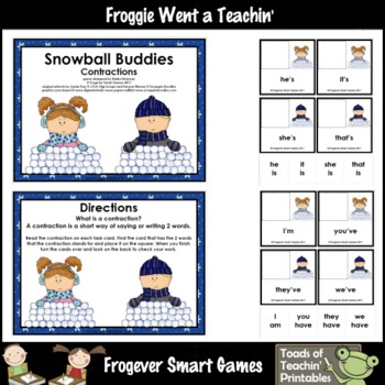 Literacy_Center -- Snowball Buddies (contractions)