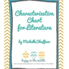 Literary Analysis: Characterization Chart Graphic Organizer