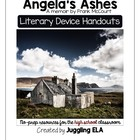 Literary Device Handouts for Angela's Ashes by Frank McCourt
