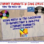 Literary Elements in Song Lyrics: Organizers &amp; Key for Rap Song