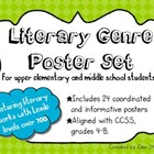 Literary Genres Poster set for Upper Elementary and Middle