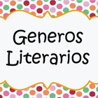 Literary Genres Spanish posters / Generos Literarios en es