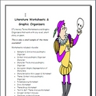Literary Terms Worksheets &amp; Graphic Organizers