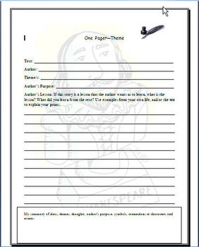 Literary Terms Worksheets & Graphic Organizers