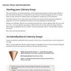 "Literary Thesis Handout and Worksheet/Key ""Story of the Ho"