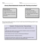 "Literary Thesis Worksheet and Key based on ""The Story of an Hour"""