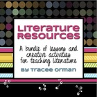 Literature Activities Bundle-Lessons, Activities, Creative