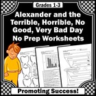 Alexander and the Horrible Day Math & Literacy Activities