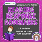 Reading Response Bookmarks: Track Words, Notes, Characters