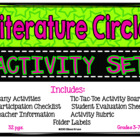 Literature Circle Activity Set-Complete w/ activities, dir
