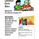 Literature Circle Job Sheets/Grades 2 and 3