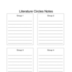 Literature Circle Teacher Notes