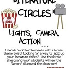Literature Circles Packet...Lights, Camera, Action! (Movie Theme)